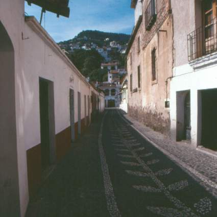 Cobble Street in Taxco