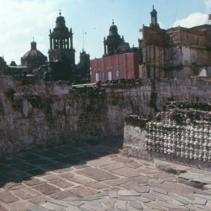 Mexico City Ruins behind the Zócalo