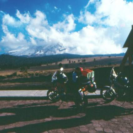 At 13,000 ft - Bikes & Popocatépetl
