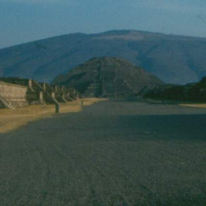 An early morning view of Teotihuacan