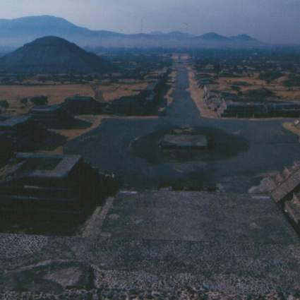 A view from the Pyramid of the Moon