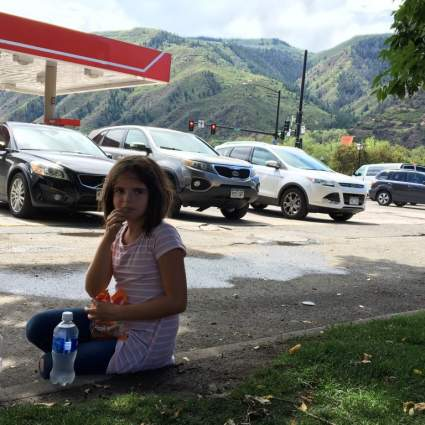 Taking a break in Glenwood Springs, CO