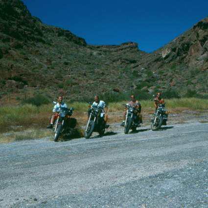 The 4 motos in Mulege. Terry, Terry, Darren & Eric.