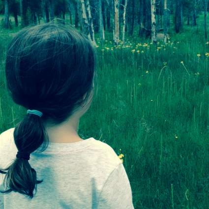 Mila checking out the wildlife