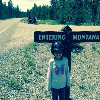 Entering Montana. A new state for Mila.