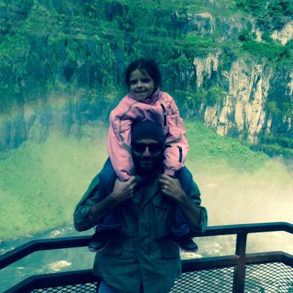 Mila & Dad at Mesa Falls