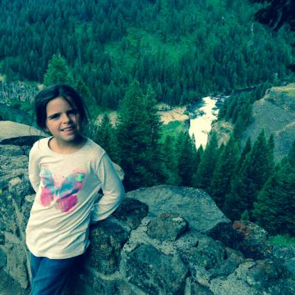 Mila at the Lower Mesa Falls