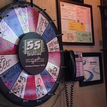 Try Your Luck. Spin for a drink special in San Marcos, CA.