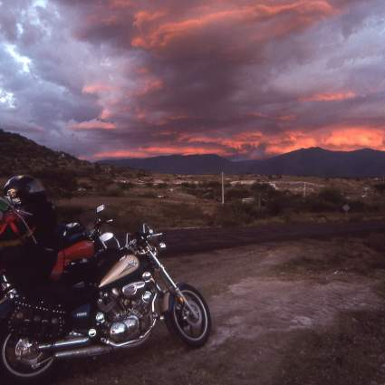 Sunset to Oaxaca. A beautiful sunset on our way to Oaxaca City.