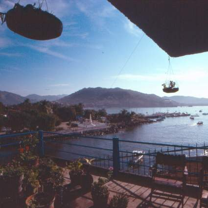 Zihuatanejo Bay. Our view from Hotel Tres Marias in Zihuatanejo.