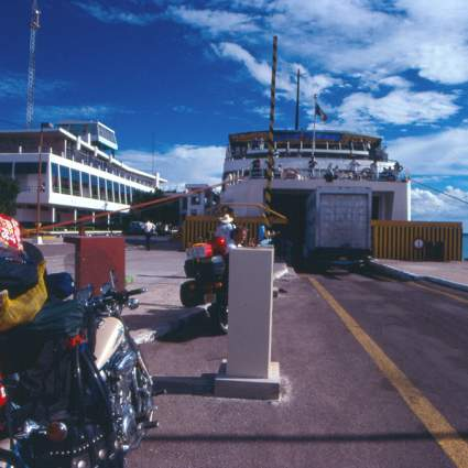 Loading on the Ferry to Mazatlan